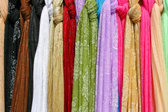 Colored Scarfs Stock Image
