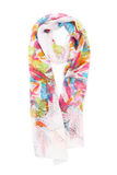 Colored scarves Stock Images