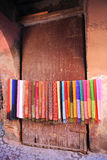 Colored scarves Stock Photography
