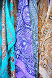 Colored scarves details Stock Photography