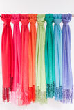 Colored scarves Royalty Free Stock Images