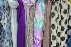 Colored scarves Royalty Free Stock Photos