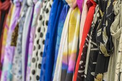 Colored scarves Stock Image