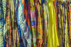 Colored scarves Stock Photos