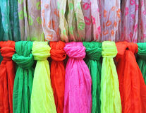 Colored scarves Royalty Free Stock Image