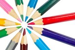 Colored school pencils Stock Photos