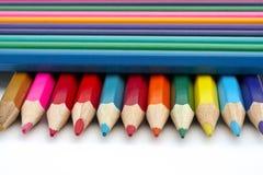 Colored school pencils Stock Photo