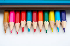 Colored school pencils Royalty Free Stock Photos