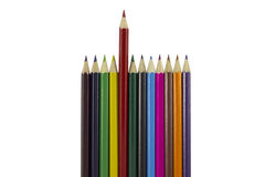 Colored School Pencils Royalty Free Stock Images