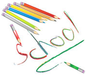 Colored School Pencils vector illustration royalty free stock photo