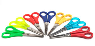 Colored scissors Royalty Free Stock Image