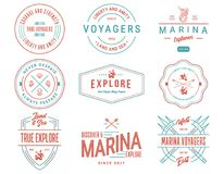 Colored Sea Badges Vol. 1 for any use Stock Photo