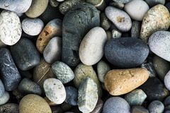 Colored Sea gravel pebbles. Close up stock images