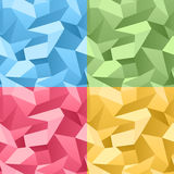 Colored Seamless 3d Crumpled background Stock Photography