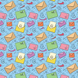 Colored seamless email pattern Royalty Free Stock Photos