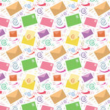 Colored seamless email pattern Stock Photo