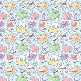 Colored seamless email pattern Stock Photography