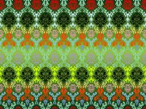 Colored seamless flowers pattern Royalty Free Stock Photography