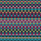 Colored Seamless knitted background Royalty Free Stock Photography