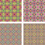 Colored seamless mosaic background set Royalty Free Stock Photo