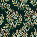 Colored seamless pattern of autumn leafs Royalty Free Stock Images