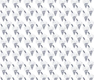 Colored seamless pattern with blue ice cream cone Stock Images