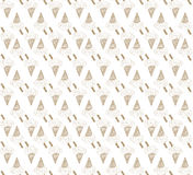 Colored seamless pattern with brown ice cream cone Stock Photos