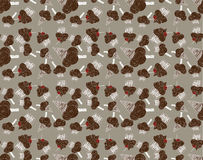 Colored seamless pattern with chocolate sweets Royalty Free Stock Photo