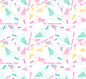 Colored seamless pattern with colorful ice cream cone Royalty Free Stock Photography