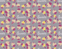 Colored seamless pattern with fruit sweets Royalty Free Stock Images