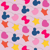 Colored seamless pattern Stock Images
