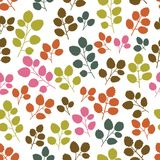 Colored seamless pattern with leaf Royalty Free Stock Photo