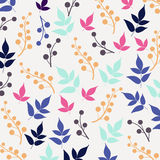 Colored seamless pattern on leaves theme. Autumn Stock Photography