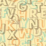 Colored seamless pattern with letters of alphabet Royalty Free Stock Image