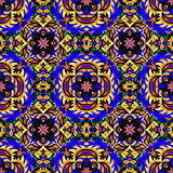 Colored seamless pattern. Vintage elements. vector illustration Royalty Free Stock Photo