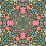 Colored seamless pattern. Vintage elements. vector illustration Royalty Free Stock Photos