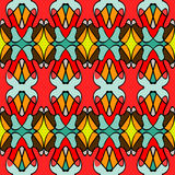 Colored seamless pattern. Vintage elements.vector illustration Stock Photography
