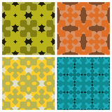 Colored seamless texture. Seamless pattern of stylized geometric elements Stock Photos