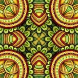 Colored Seamless Tile Pattern, Fantastic Kaleidoscope Royalty Free Stock Image