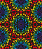 Colored seamless tribal pattern Stock Photography