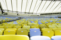 Colored Seating rows in the stadium Royalty Free Stock Photos