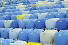 Colored Seating rows in the stadium Royalty Free Stock Images