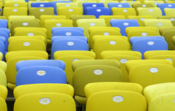 Colored Seating rows in the stadium Royalty Free Stock Image