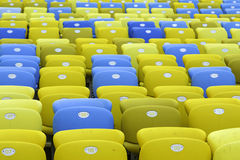 Colored Seating rows in the stadium Stock Images