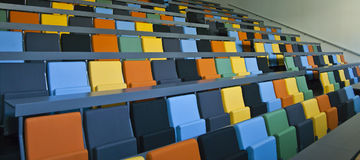 Colored seats Stock Photos