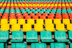 Colored seats Stock Photography