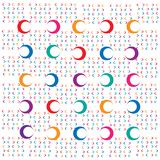 Abstract background of color geometric figure of the circle royalty free illustration