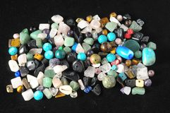 Colored Semi Precious Stones Stock Photo