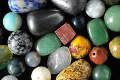 Colored Semi Precious Stones Royalty Free Stock Photography