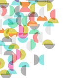 Colored semicircle background Royalty Free Stock Images